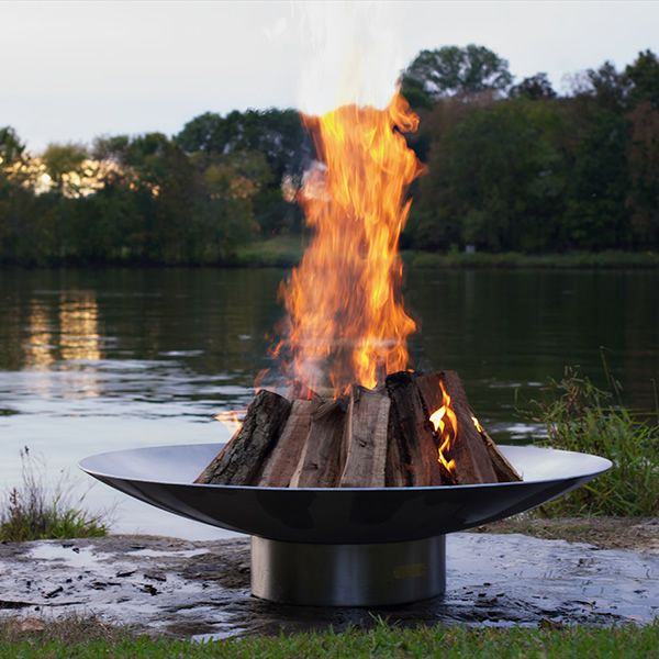 Bella Vita Stainless Steel Wood Burning Fire Pit image number 3