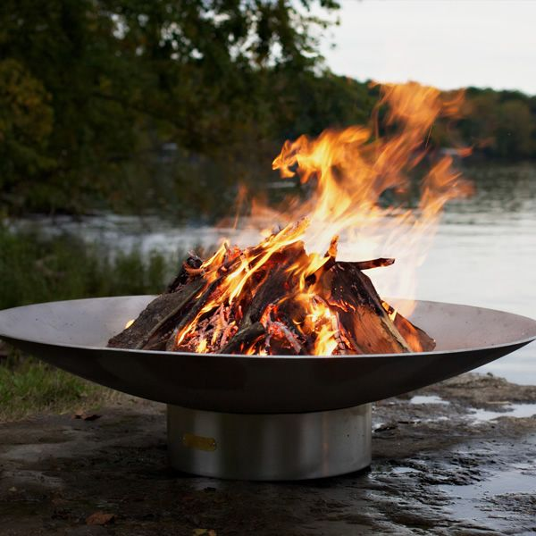 Bella Vita Stainless Steel Wood Burning Fire Pit image number 4