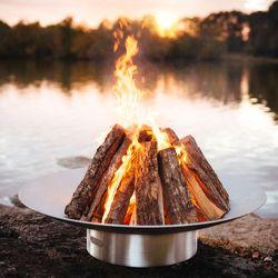 Bella Vita Stainless Steel Wood Burning Fire Pit