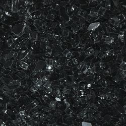 "Black - 1/4"" Fire Glass- 10 lbs."