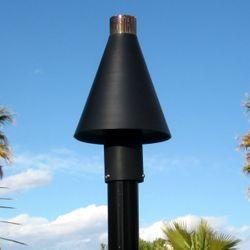 Black Cone Gas Tiki Torch