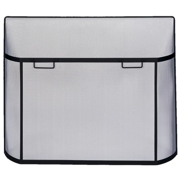 "Black Curved Spark Guard Screen - 39"" x 31"" image number 0"