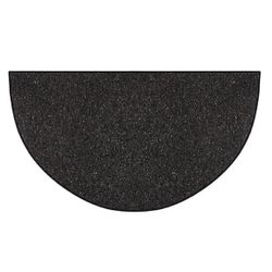Black Andiron 4' Half Round Fireplace Hearth Rug