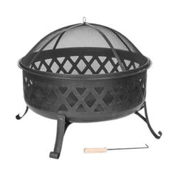 Black Diamond Style Wood Burning Fire Pit