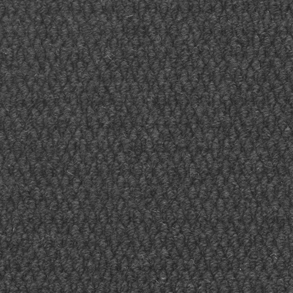 Black Ember 6' Half Round Wool Fireplace Hearth Rug image number 1