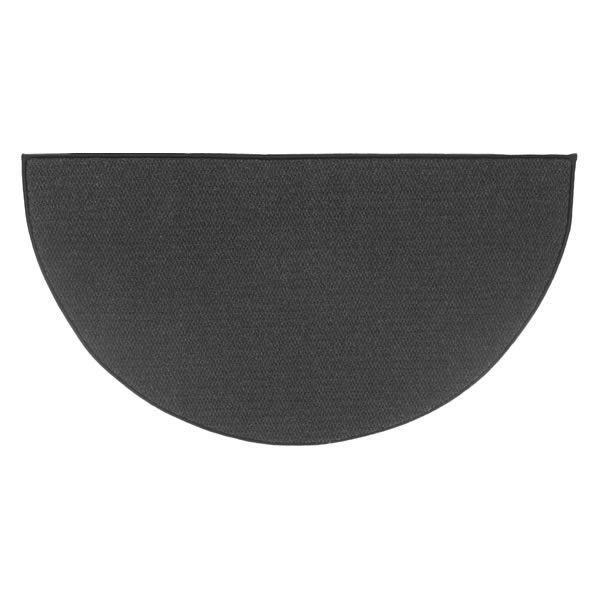 Black Ember 6' Half Round Wool Fireplace Hearth Rug image number 0