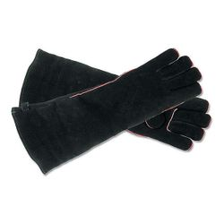 Black Fireplace Hearth Gloves - Long