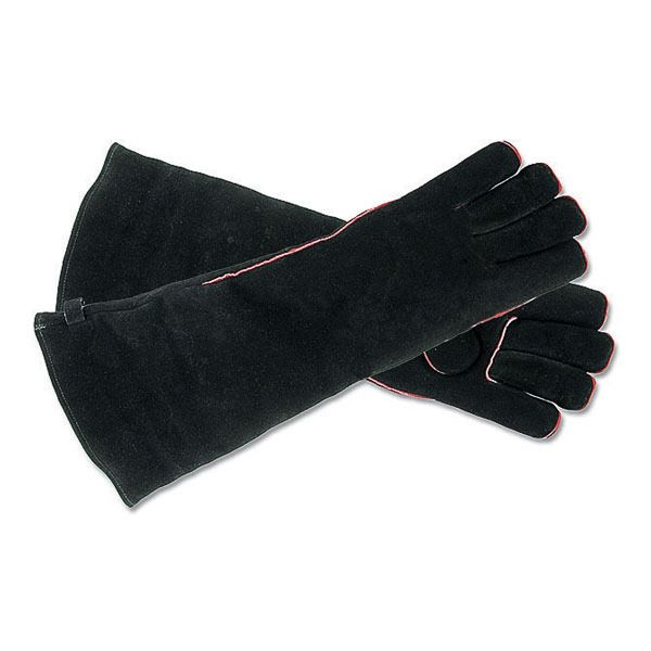 Black Fireplace Hearth Gloves - Long image number 0