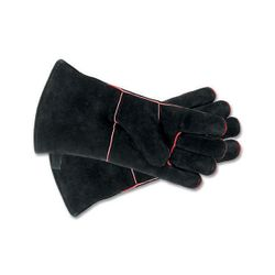 Black Fireplace Hearth Gloves - Short