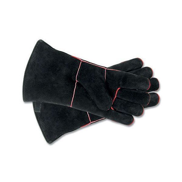 Black Fireplace Hearth Gloves - Short image number 0