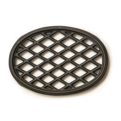 Black Matte Lattice Wood Stove Trivet