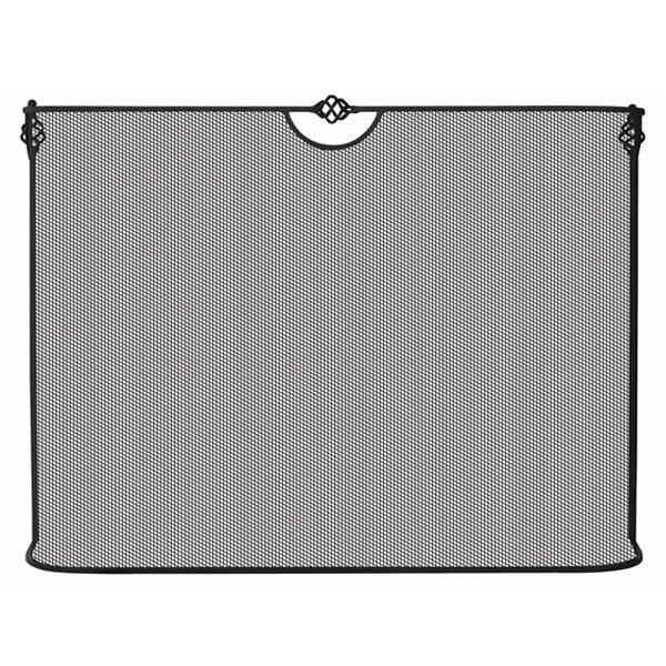 """Black Spark Guard Fireplace Screen - 39"""" x 31"""" image number 0"""