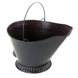 Black Steel Coal Hod