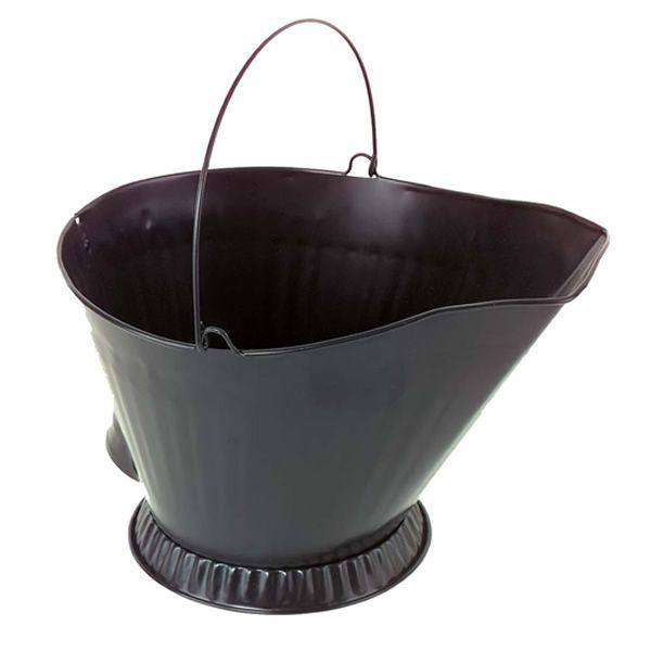 Steel Coal Hod - Black image number 0