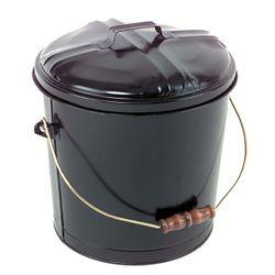 Black Steel Ash Bucket - 5 Gallons