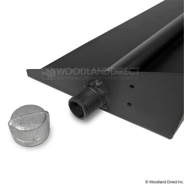 Black Steel Gas Ember Pan image number 2