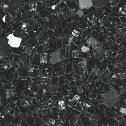 "Black Reflective - 1/4"" Fire Glass- 10 lbs."