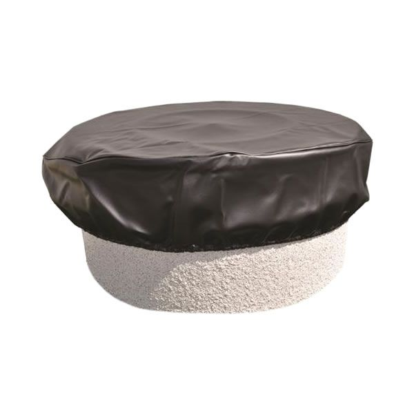 "Black Vinyl Fire Pit Cover - 45"" image number 0"