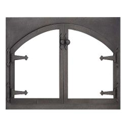 Blacksmith Rectangle Masonry Fireplace Door with Arch