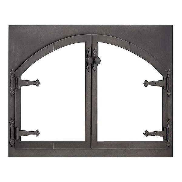 Blacksmith Rectangle ZC Fireplace Door with Arch image number 0