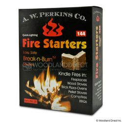 Break and Burn Fire Starter Squares - 144 count