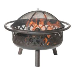 Bronze Criss-Cross Wood Burning Fire Pit