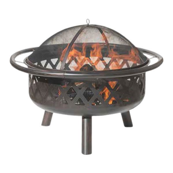 Bronze Criss-Cross Wood Burning Fire Pit image number 0