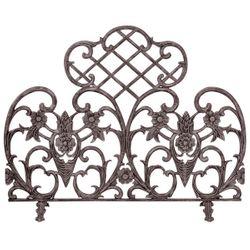 Bronze Single Panel Cast Aluminum Fireplace Screen