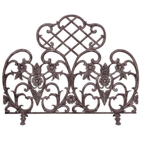 "Bronze Single Panel Cast Aluminum Fireplace Screen - 42"" x 33"" image number 0"