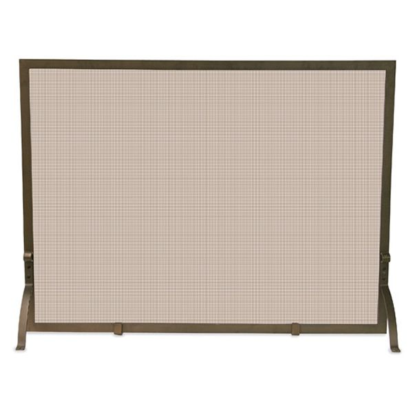 "Bronze Single Panel Fireplace Screen - 44"" x 33"" image number 0"