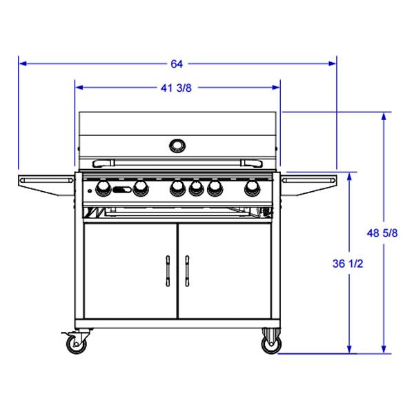 Bull Brahma Cart-Mount Gas Grill image number 3
