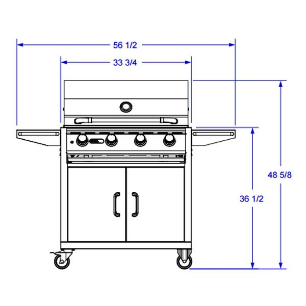 Bull Lonestar Select Cart-Mount Gas Grill image number 3