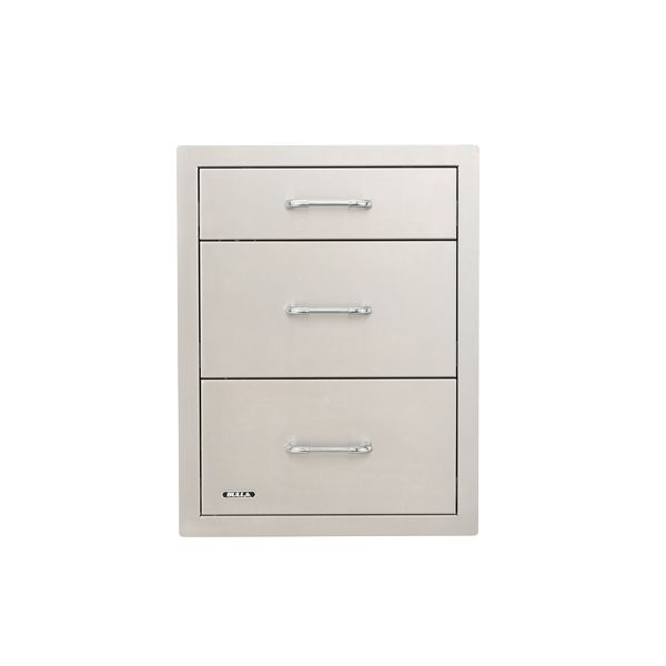 Bull Stainless Steel Triple Drawer System image number 0