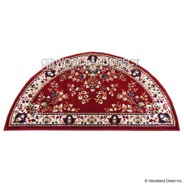 "Burgundy Oriental Half Round Wool Fireplace Hearth Rug - 44""x22"" image number 0"