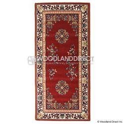 "Burgundy Oriental 56""x26"" Rectangular Wool Hearth Rug"