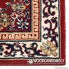 "Burgundy Oriental Rectangular Wool Hearth Rug - 56""x26"" image number 1"