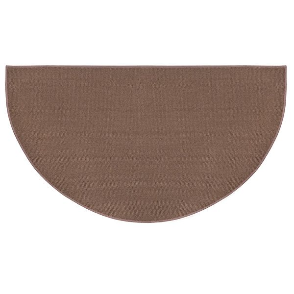 Brown Guardian Half Round Fiberglass Hearth Rug - 4' image number 0