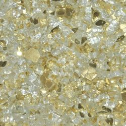 "Gold Reflective - 1/4"" Fire Glass- 10 lbs."