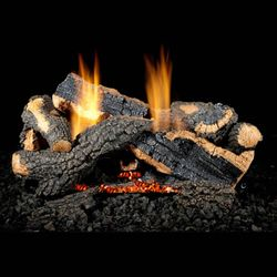 Golden Blount Charred Stack Ventless Gas Log Set