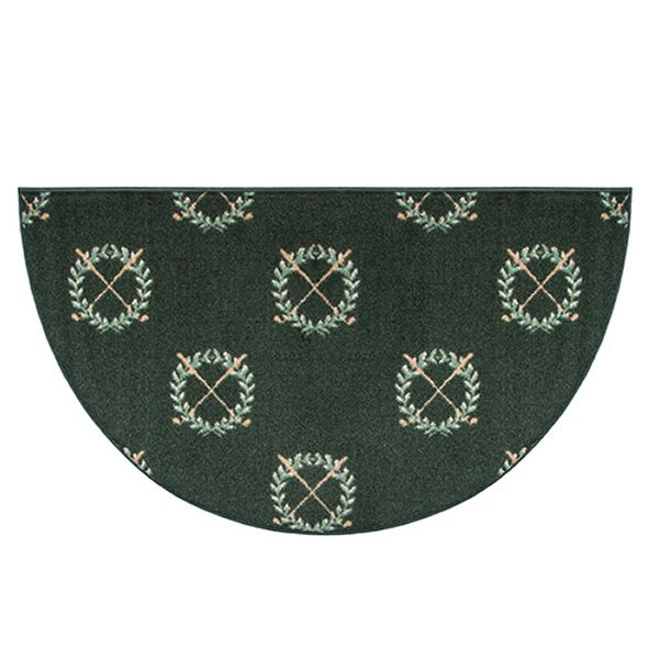 Golf Clubs Half Round Fireplace Hearth Rug - 4' image number 0