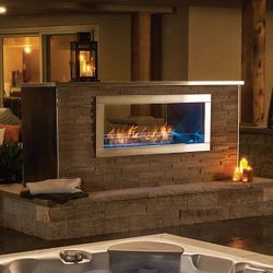 Galaxy GSS48ST Outdoor Linear See Thru Gas Fireplace
