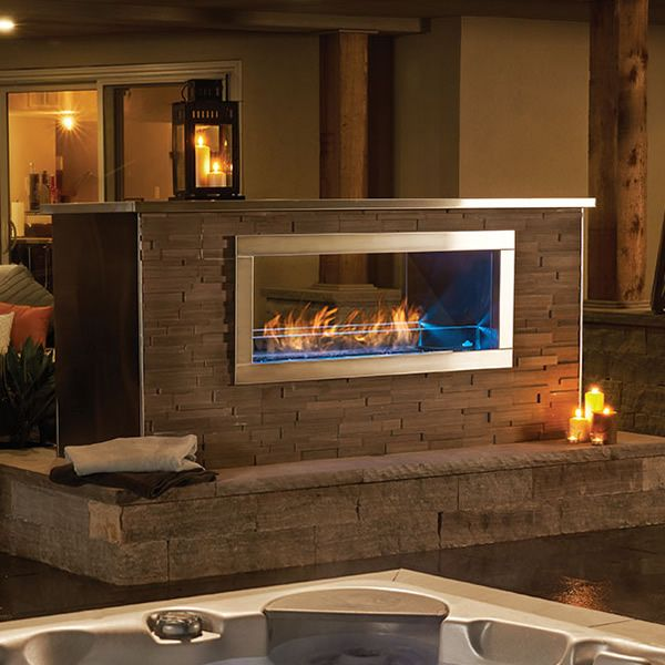 Galaxy GSS48ST Outdoor Linear See Thru Gas Fireplace image number 0