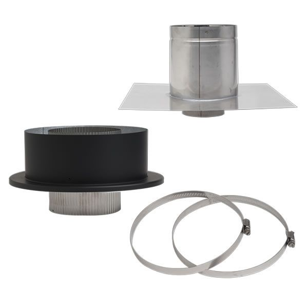 "Galvalume Masonry Chimney Conversion Kit - 4"" Dia image number 0"