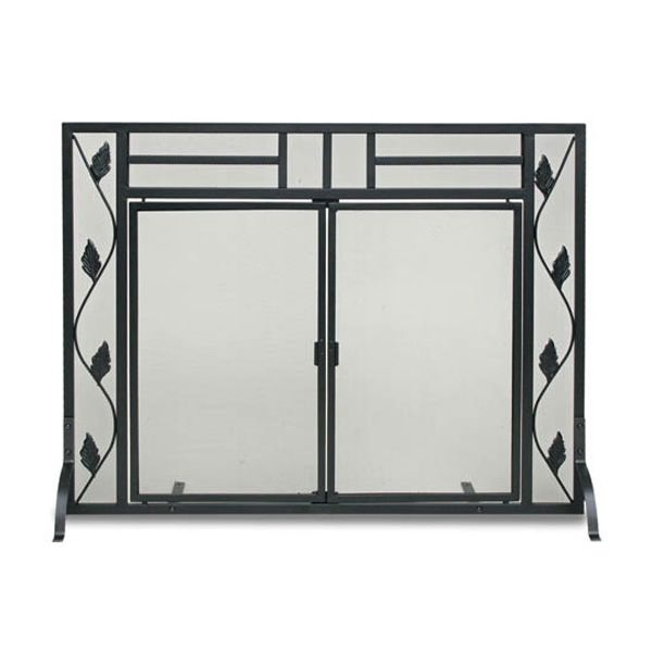 Garden Leaf Fireplace Screen with Doors image number 0