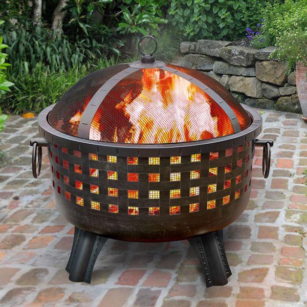 Garden Lights Savannah Fire Pit - Antique Bronze image number 0