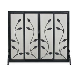 Garden Vine Fireplace Screen w/Doors