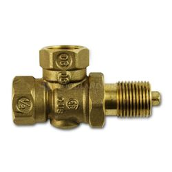 Gas 1/4 Turn Ball Valve - Angled