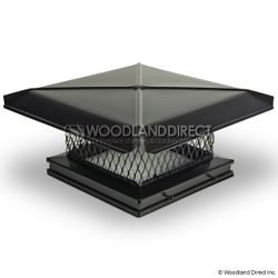 Gelco Black Galvanized Single-Flue Chimney Cap
