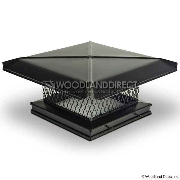 Gelco Black Galvanized Single-Flue Chimney Cap image number 0