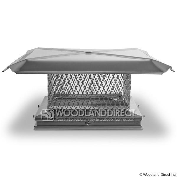 "Gelco Stainless Steel 5/8"" Mesh Chimney Cap image number 1"